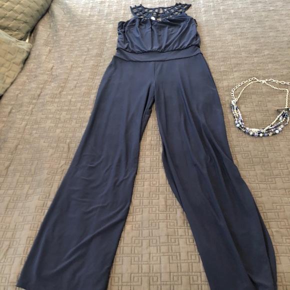 58ccfcf7e400 White House Black Market navy pants jumpsuit belt